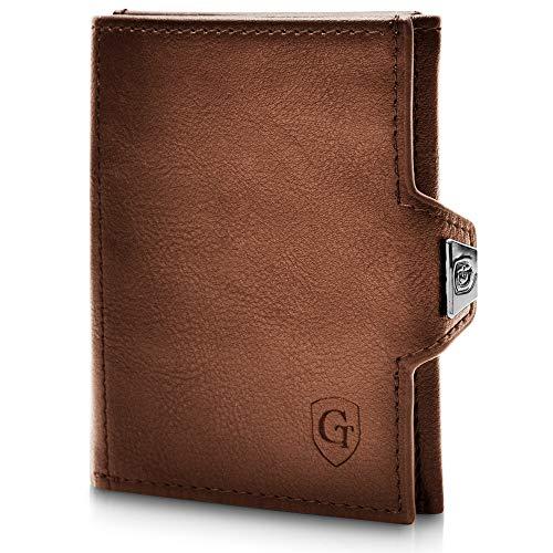 GenTo Smartlet - Mini cartera con y sin compartimento para monedas, Slim Wallet Billetera con protección RFID, fino...