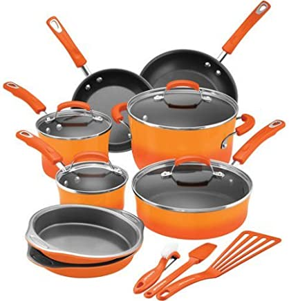 Rachel Ray 15 Piece Cookware Set - Hard Enamel