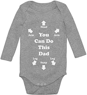 Tstars - You Can Do This Dad Funny for New Dads Cute Baby Long Sleeve Bodysuit