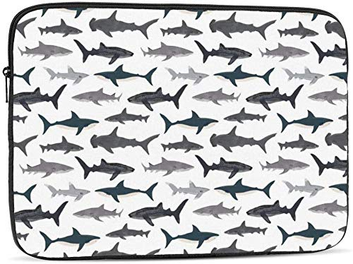 Laptop Sleeve Cover, Sharks Nautical Boys Laptop Sleeve Bag Fit for 10-17 Inch Netbook/Laptop