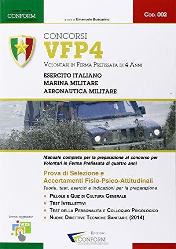 Concorso VFP4. Volontari in ferma prefissata di 4 anni. Esercito Italiano, Marina Militare e Aeronautica Militare