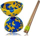 Diabolo Jester + Wooden Diabolos Sticks & Diablo String B/Y