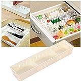 wlgreatsp Schubladen-Organizer, einstellbare durchsichtige Kunststoff-Schubladen mit 3 einstellbaren Schubladenteilern für Büro, Schule, Küche, Kommode, Schreibtisch, Organizer für...