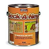Anvil Deck-A-New Resurfacer Paint, Restores Wood Decks, Porches, Concrete Patios & Pool Decks, Premium Textured, 5 Slip Resistant Colors Available - Cedar, 1 Gallon