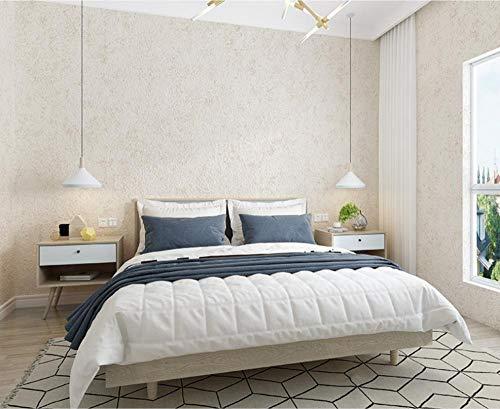Papel pintado 3D Color sólido Papel Pintado de Tejido-no-Tejido de color cremapara Decoración de Pared de Dormitorio Minimalista y Hogar no Tejido Papel Pintado 0.53m x 9.5m