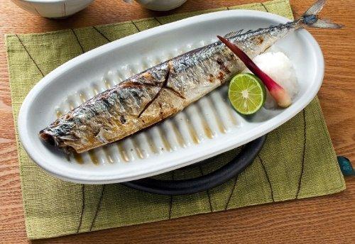 イシガキ産業魔法のお皿さんま皿(白)3207