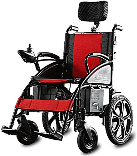Power Wheelchair/ Electric Wheelchair Folding Electric Wheelchair, Foldable Electric Small Mobile Assisted Wheelchair, Powerful Dual-motor Wheelchair,folding Motorized Wheelchair for Disabled Elderly
