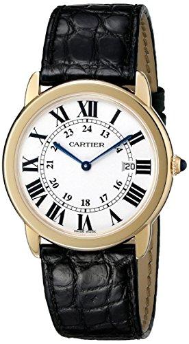 Cartier Men's W6700455 Ronde Black Leather Roman Numeral Watch
