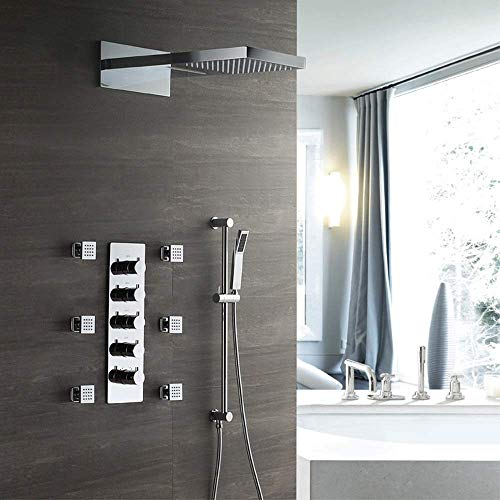 Fantastic Prices! Gulakey Concealed Shower with Lifting Rod Side Spray Small Flow Thermostatic Showe...