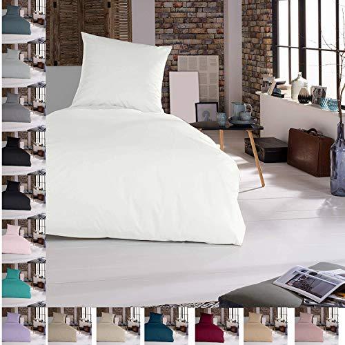 Douceur d'Intérieur - Juego de cama (2 piezas, 155 x 220 cm, 100% algodón), color blanco