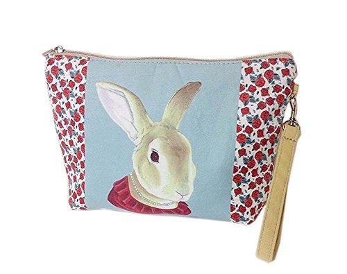 mignon et uniques lapin toile sacs cosmétique/bourse