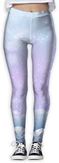 XMKWI Dreamlike Snow Women's Power Flex Activewear Yoga Pants Workout Tights Leggings Trouser