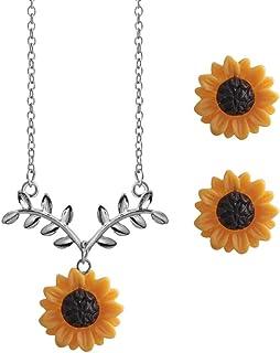 Gilroy Jewelry - Juego de Arete y Arete para Mujer, diseño de Girasoles