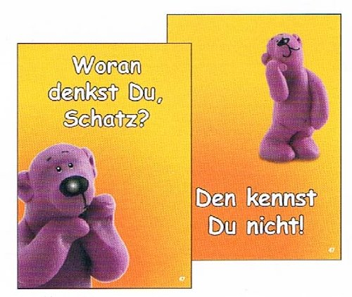 tatzino - Postkarte / Wackelbild - Nr. 47 - Woran denkst Du, Schatz? ...
