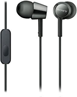 Sony MDREX155AP/B In-Ear Headphones with Mic - Black (Pack of1)