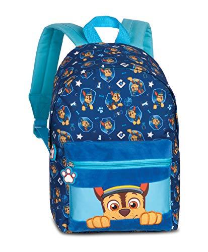 Paw Patrol Mochila de guardería – Mochila infantil para niños de 3 a 6 años con Chase de Paw Patrol – 36 cm x 24 cm x 12 cm 6L azul
