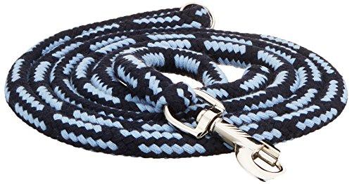 Dinoleine Hundeleine, Längenverstellbar, Inkl. Standard Messing-Karabiner, Natürliche Baumwolle, Maße: 130-220 cm, Marine/Babyblau, 101019