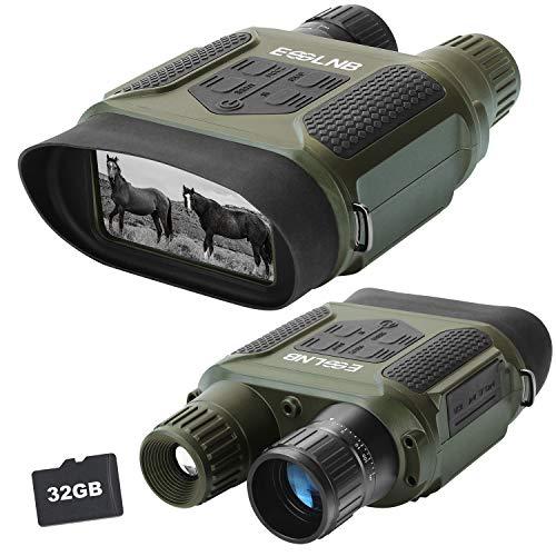ESSLNB Nachtsichtgerät Jagd Infrarot Digital Fernglas mit Nachtsicht mit 32GB Karte und 8 AA Batterien 7X Vergrößerung 4