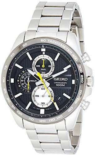 Seiko Chronograph Herren-Uhr Edelstahl mit Metallband SSB261P1