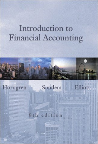 Introduction to Financial Accounting and Student CD package, Eighth Edition