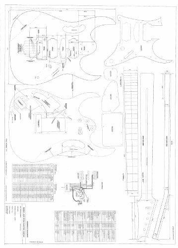 Guitarra Planes para hacer la Ibanez Jem 777–Escala completa Planes
