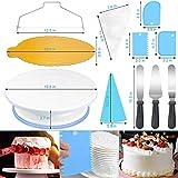 WisFox 103 Teiliges Tortenplatte Drehbar Tortenständer Kuchen Drehteller Cake Decorating Turntable mit Zuckerguss, SpritztüllenTipps-Set, und glatter, Gebäckwerkzeug für Anfänger und Profis - 3