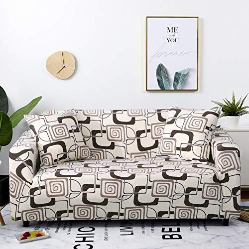 Fundas de sofá elásticas Protector de Muebles elástico Funda de sofá l Funda de sillón para Sala de Estar 1/2/3/4 plazas A16 1 Plaza