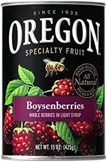 Oregon Fruit Products, Canned Fruits, 15oz Can (Pack of 3) (Choose Fruit Below) (Boysenberries in Light Syrup)