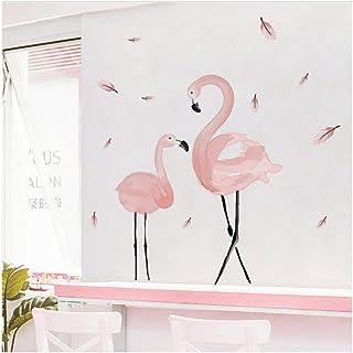 Aquarelle Flamant Rose Sticker Mural Chambre Chambre Chambre Fille D/écoration Chaude