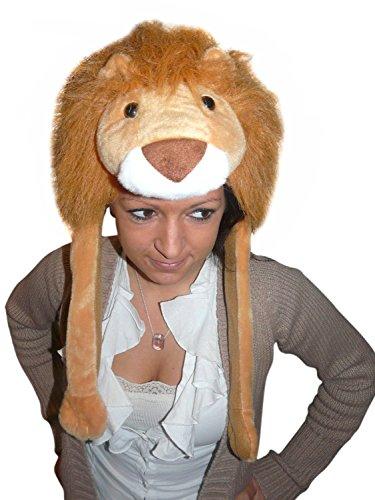 Ikumaal Löwen-Mütze für Kostüm F91, Löwen-Faschingskostüm, für Fasching Karneval Fasnacht, Karnevals-Kostüme Männer u. Frauen, Faschings- Fasnachts- Tier-Kostüme, Geburtstags- Weihnachts-Geschenk