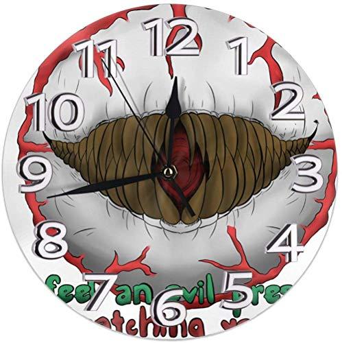 Wanduhr Auge von Cthulhu Terraria Runde Uhr 9,8 Zoll Silent Home Decor Wanduhr arabischen Ziffern Indoor Clock