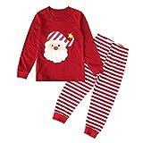 SBSJNR Neugeborenes Baby Unisex Weihnachten Kleidung 2Pcs Langärmliges Oberteil + Gestreifte Hose Weihnachtsmann Rollenspiel Weihnachtskostüm -