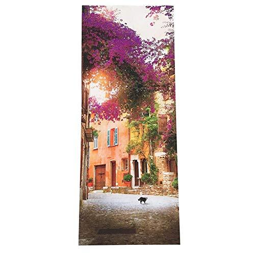 XXXCH Deur Sticker Tuinhuis 77X200CM 3D Foto Deur Muren Behang Verwijderbare Zelfklevende Muren voor Slaapkamer Huis Deur Woonkamer Kantoormuur Stickers Home Decoratie