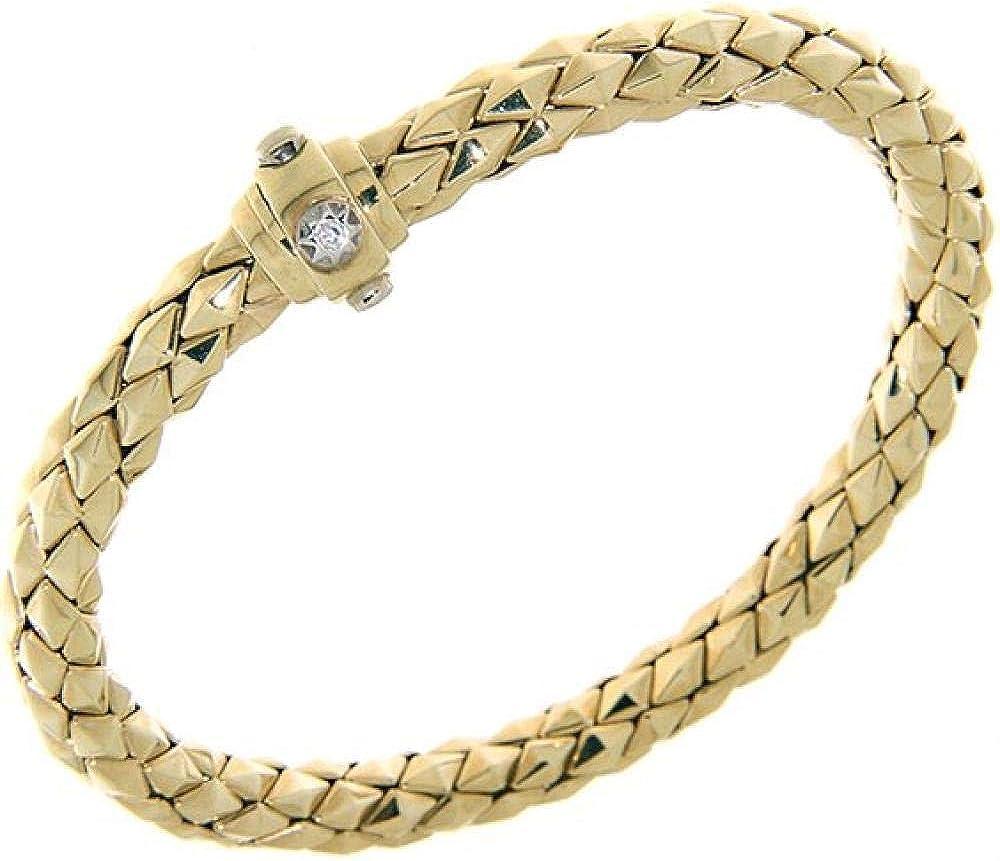 Chimento,bracciale per donna in oro giallo 18kt(21.2 gr)con diamantino sulla chiusura di sicurezza 0,03 ct 1B00818ZB5200.A