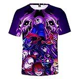 Undertale Camiseta Camiseta Tops de Manga Corta Juego de Personalidad Camisetas de impresión de Dibujos Animados Camisetas básicas (Color : A05, Size : M)