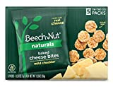 Beech-Nut Naturals Mild Cheddar Baked Cheese Bites Toddler Snacks, Made with Real Cheese, Gluten...