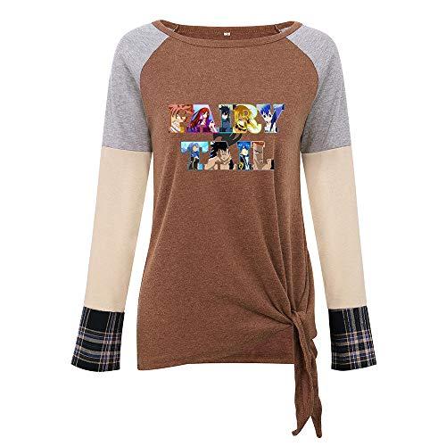 Diseño simple, clásico y atemporal, cómodo y con estilo. Versión coreana más vendida a cuadros costuras dobladillo anudado camiseta Top