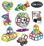 Jasonwell Bloques de Construcción Magnéticos para Niños 108 Piezas...