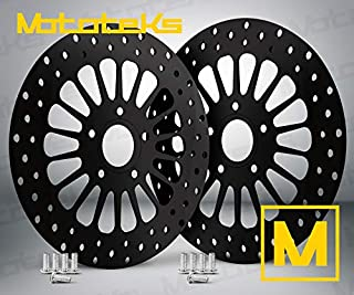 HARLEY BLACK FRONT ROTOR 11.8 SET W/STAINLESS STEEL BOLTS FOR HARLEY TOURING BAGGER MODELS FITS 08-UP