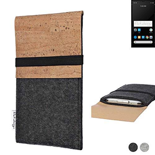 flat.design Handy Hülle SAGRES für Carbon 1 MKII Made in Germany Handytasche Filz Tasche Schutz Hülle fair Kork