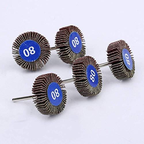 5 piezas para accesorios Dremel, papel de lija, ruedas de pulido, juego de discos de lijado, rueda de pulido de obturador para herramientas eléctricas rotativas, A