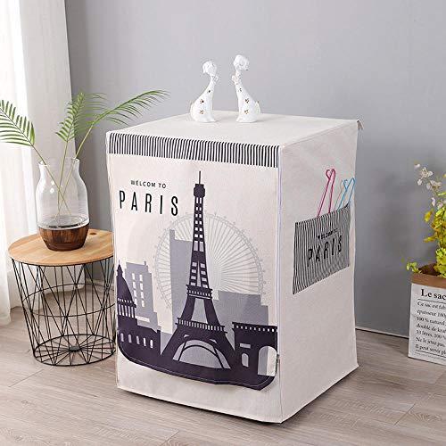 Funda Lavadora Carga Frontal para Lavadora,Funda Lavadora-Funda para lavadora-Torre Eiffel_Código XL 60 * 65 * 85 cm