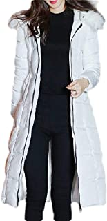 Macondoo Womens Winter Quilted Outwear Puffer Hooded Long Down Coats