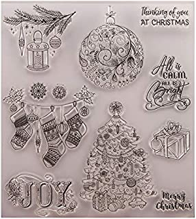 GIMITSUI Store Clear Stamp Diary Book Paper Craft Maker (Christmas Tree, Present)