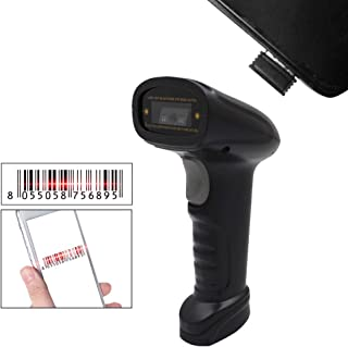 Barcode Scanner Wireless,Benkeg Handheld 2.4G Wireless USB Wired 1D Barcode Scanner CCD Bar Code Reader for Windows Mac An...