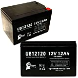 2 Pack Replacement for Pm Battery LA12120 Battery - UB12120 Universal Sealed...
