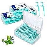 Fil Dentaire 200 PCS Porte Fils Dentaire, Fil Dentaire Sticks Jetable Oral Nettoyage Floss Fil...
