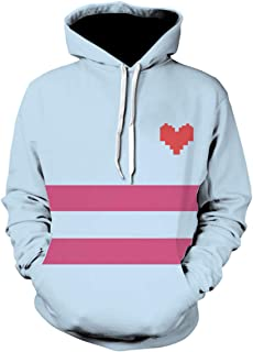 Game Undertale Heart Blue Hoodie Pullover Sweater