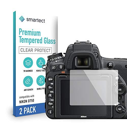 smartect Pellicola Protettiva per Nikon D750 [2 Pezzi] - 9H Vetro Temperato Proteggi Schermo - Design Ultra Sottile - Applicazione Anti-Bolle - Anti-Impronte