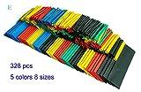 HT328-UK 328 piezas varios encogen al calentarse 5 colores tamaños 8 funda juego de policarbonato y tubo de